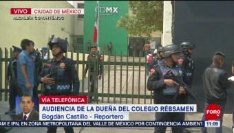 Realizan audiencia contra dueña del Colegio Enrique Rébsamen