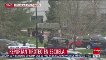Foto: Reportan balacera en escuela en Colorado