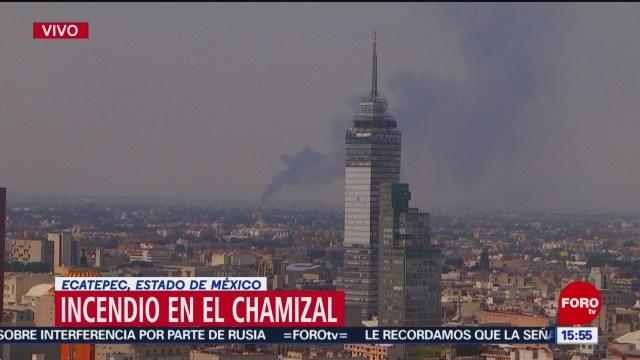 FOTO: Reportan incendio en El Chamizal, Ecatepec