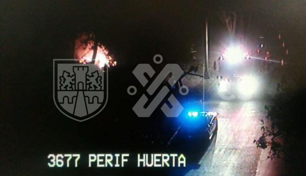 Foto Incendio en Periférico y Prolongación División del Norte 14 mayo 2019