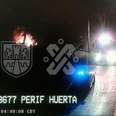 Reportan incendio en Periférico y Prolongación División del Norte, CDMX