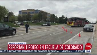 Foto: Reportan tiroteo en escuela de Colorado