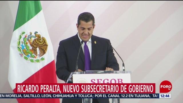 Ricardo Peralta sustituye a Zoé Robledo en Segob