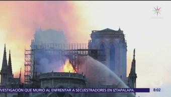 Robot impidió desplome de Notre Dame durante incendio
