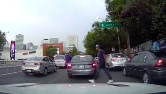 asalto-automovilista-Santa-Fe-video-viral-inseguridad