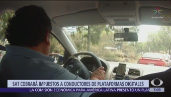 SAT cobrará impuestos a conductores de plataformas digitales