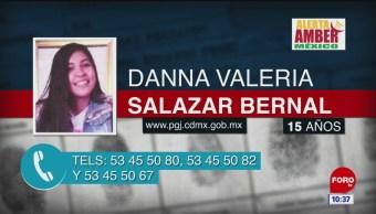 Se busca a Danna Valeria Salazar Bernal, de 15 años
