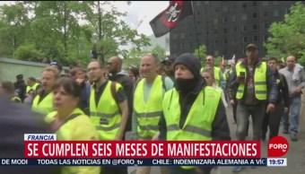 FOTO: Se cumplen 6 meses de las manifestaciones de los chalecos amarillos, 18 MAYO 2019