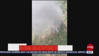FOTO: Se desploma helicóptero de Semar en SLP, 24 MAYO 2019