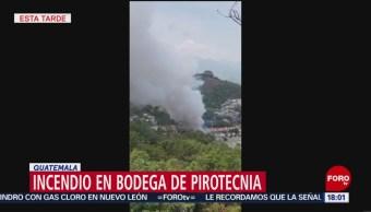Foto: Se incendia bodega de pirotecnia en Guatemala