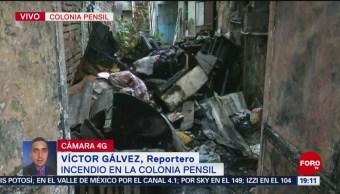 FOTO: Se incendia casa en colonia Pensil, alcaldía Miguel Hidalgo; no hay heridos, 18 MAYO 2019