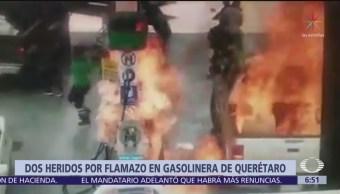 Se registra flamazo en gasolinera de Querétaro