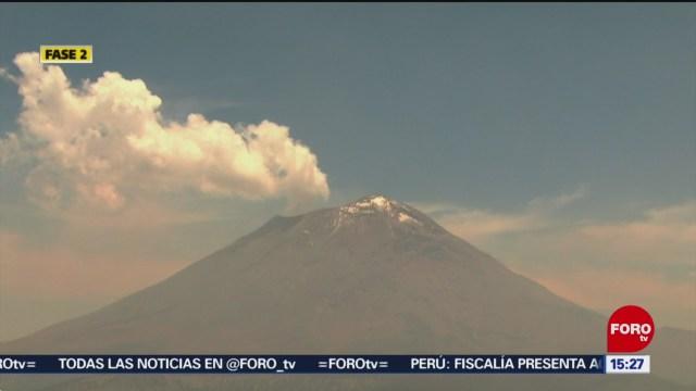 Foto: Semáforo de alerta del Popocatépetl regresa a amarillo fase 2