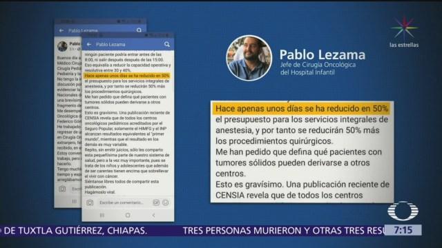 SHCP descongela presupuesto para Hospital Infantil 'Federico Gómez': Pablo Lezama
