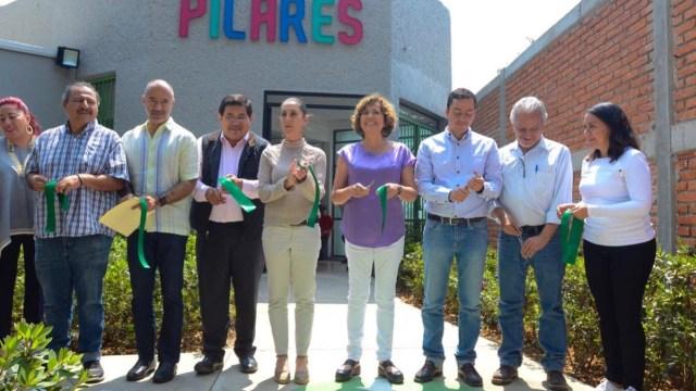 Foto: La jefa de Gobierno de la CDMX, Claudia Sheinbaum, inaugura dos nuevas sedes de PILARES en la alcaldía de Xochimilco, mayo 26 de 2019 (Twitter: @SECITI_CDMX)