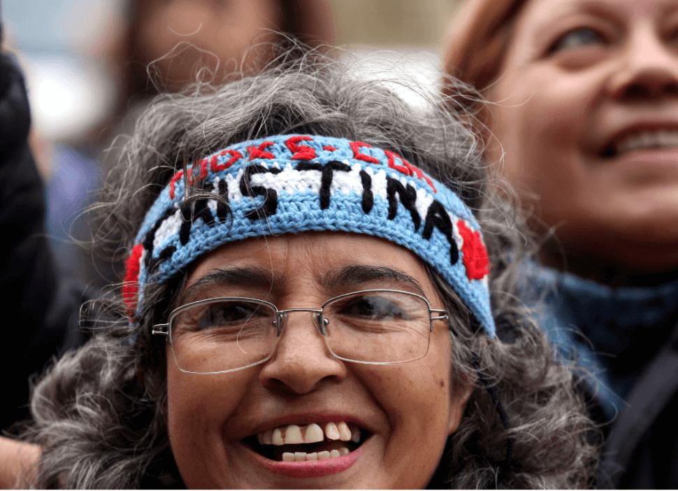 Foto: Simpatizantes de Cristina Fernández le manifiestan su apoyo, 21 de mayo de 2019, Buenos Aires