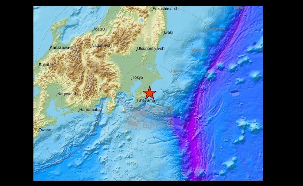 Sismo de 5.1 grados Richter se siente con fuerza en Tokio, Japón