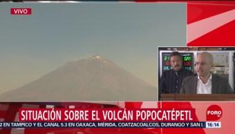 Foto: Situación sobre el volcán Popocatépetl