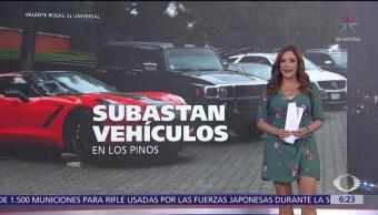 Subastan vehículos en Los Pinos