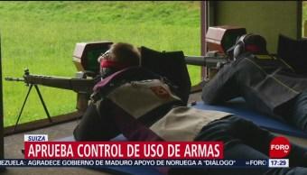 FOTO: Suiza aprueba endurecer posesión de armas, 19 MAYO 2019