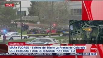FOTO: Suman 7 heridos tras balacera en escuela de Colorado