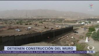Suspenden construcción de muro de EU