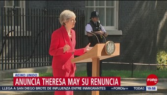 Foto: Theresa May Renuncia Brexit Reino Unido 24 Mayo 2019