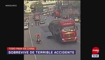 Todo Pasa En China: Sobrevive de terrible accidente