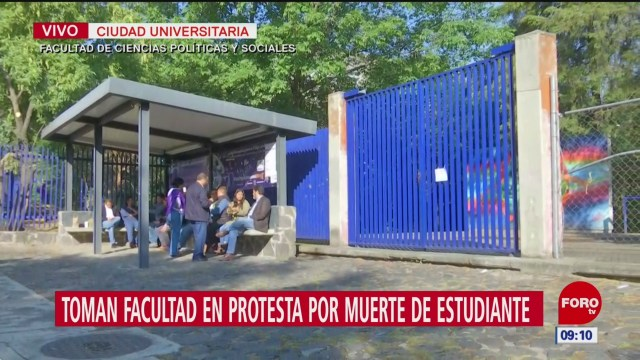Toman facultad de Ciencias Políticas por muerte de Aideé Mendoza