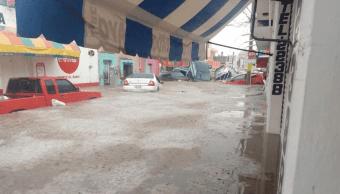 Foto: Tormenta causa severos daños en Matehuala, San Luis Potosí, 30 de mayo de 2019, México