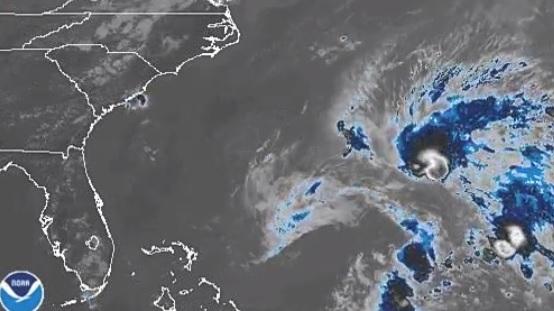 """Foto: Mapa de la tormenta subtropical """"Andrea"""" al sur de las Bermudas. El 20 de mayo de 2019"""