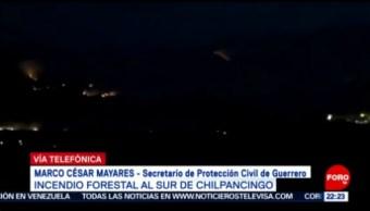 FOTO: Trabajan para sofocar incendio forestal en Chilpancingo, Guerrero, 5 MAYO 2019