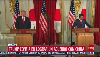 Trump confía en lograr un acuerdo con China