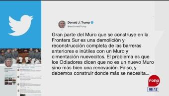Trump promete muro fronterizo donde más se necesita