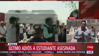 FOTO. Último adiós a la estudiante Aideé Mendoza