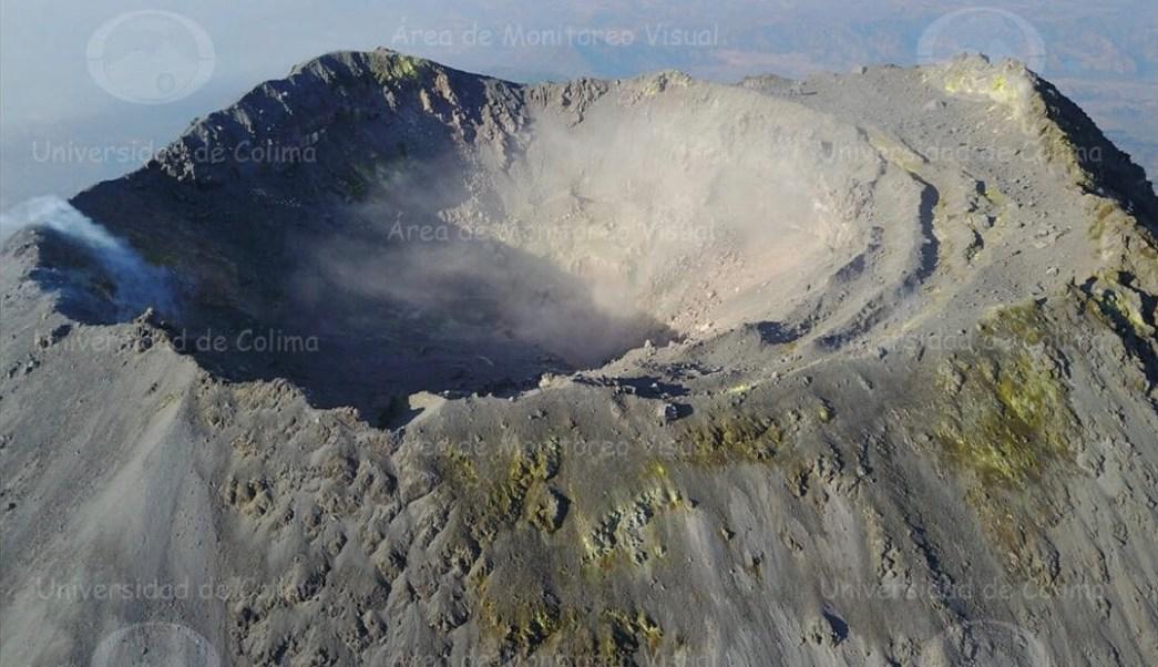 Foto: Volcán de Fuego de Colima, 27 de mayo 2019. Twitter @udec_oficial, vía @berthareynoso