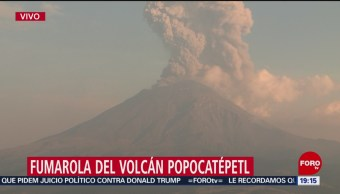 Foto: Volcán Popocatépetl Exhalación Hoy Explosión 22 Mayo 2019