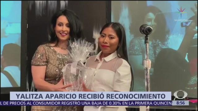 Yalitza Aparicio, reconocida por organización vs esclavitud