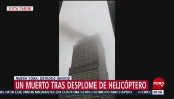 Foto: Accidente Helicóptero Nueva York 11s 10 Junio 2019