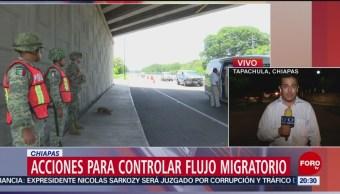 Foto: Acciones Guardia Nacional Flujo Migratorio Chiapas 19 Junio 2019