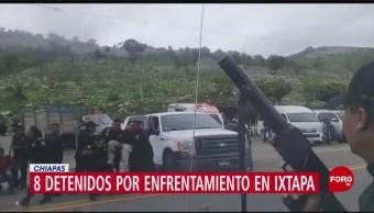 Foto: Agreden a policías en Chiapas; hay ocho detenidos