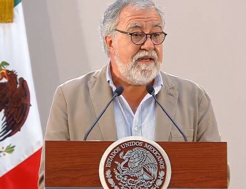 Imagen: Alejandro Encinas presentó avances sobre el caso Ayotzinapa, 11 de agosto de 2019 (Noticieros Televisa)
