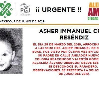 Alerta Amber: Ayuda a localiza a Asher Immanuel Cruz Reséndiz