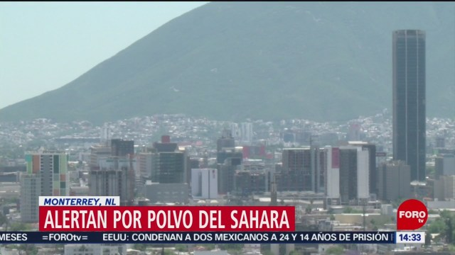 FOTO: Alerta en Monterrey por nube de arena del desierto del Sahara