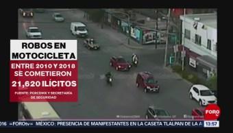 FOTO: Alertan de método de robo con motocicletas en CDMX