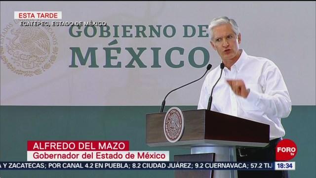 FOTO: Alfredo del Mazo agradece apoyo de AMLO