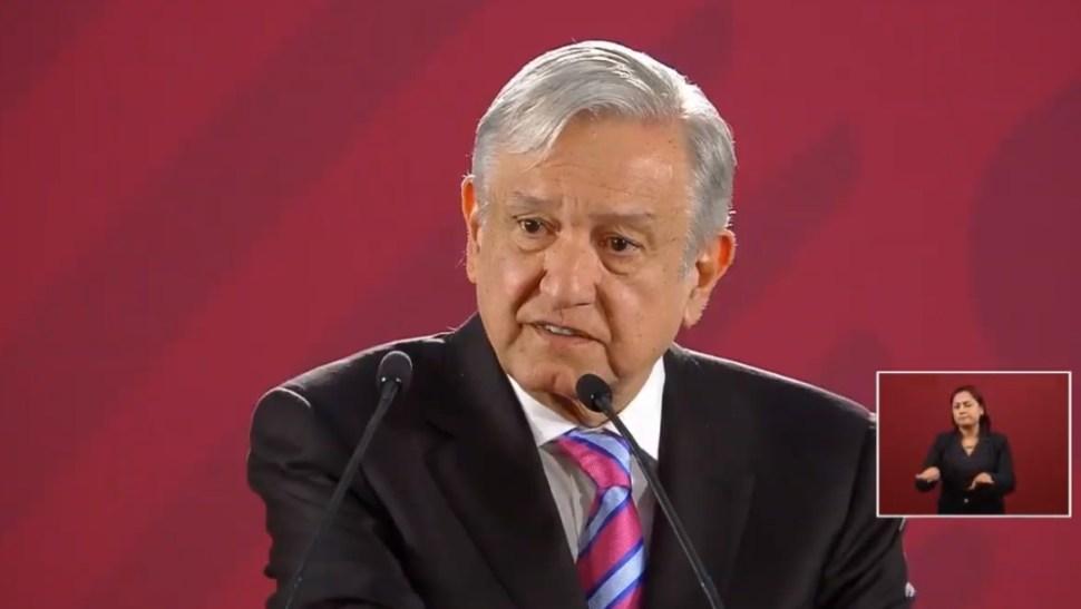 Foto: López Obrador en conferencia de prensa en Palacio Nacional, 28 de junio de 2019, Ciudad de México