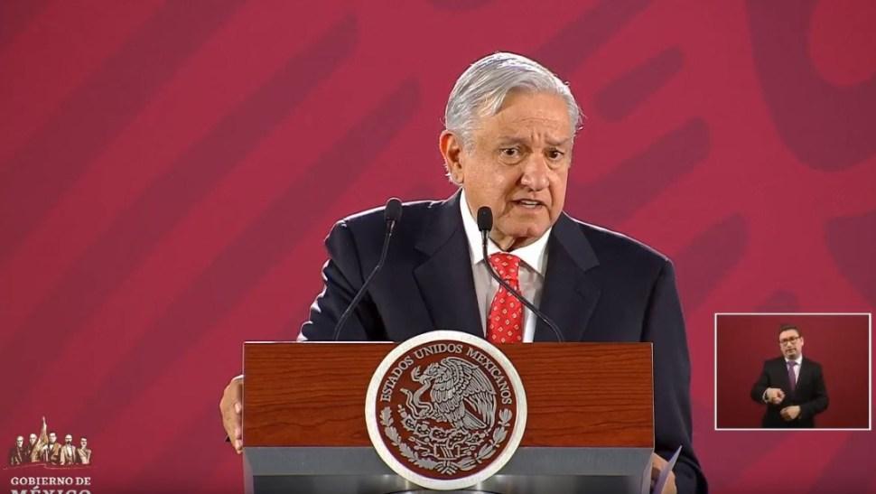 Foto: El presidente de México, Andrés Manuel López Obrador, en su conferencia de prensa matutina, 27 junio 2019