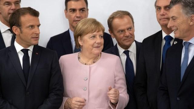 Foto: La canciller alemana, Angela Merkel, asegura encontrarse bien, después de dos episodios de temblores, junio 29 de 2019 (Getty Images)