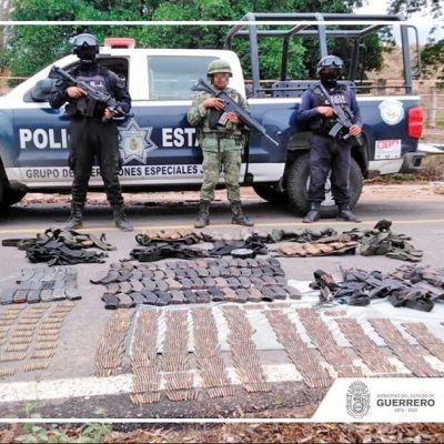Detienen a siete hombres con armas y vehículos blindados en Guerrero